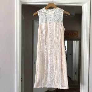 Kensie Geo-Lace Sheath Dress